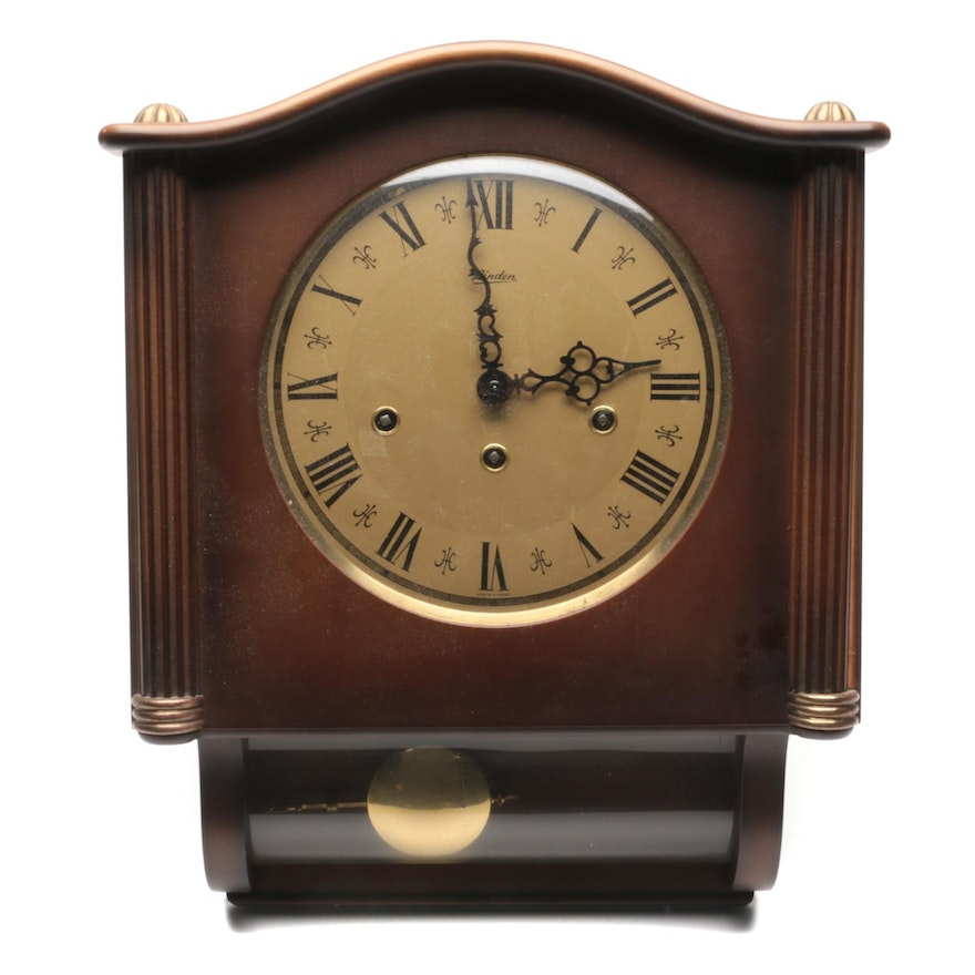 Linden Wooden Wall Clock, Late 20th Century