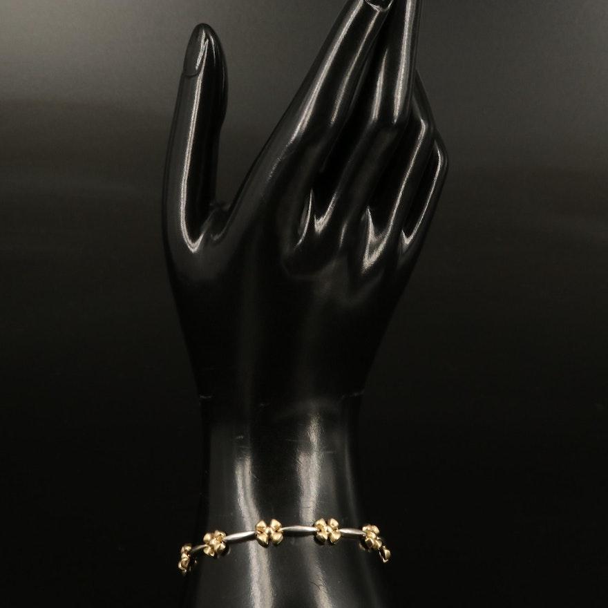 Italian 14K Two-Tone Gold Link Bracelet
