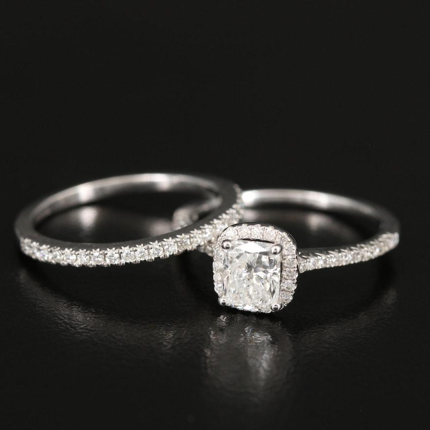 14K 1.25 CTW Diamond Ring and 0.15 CTW Diamond Band Set