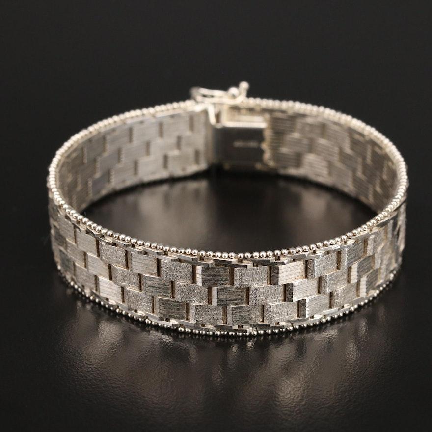Italian Sterling Fancy Link Bracelet