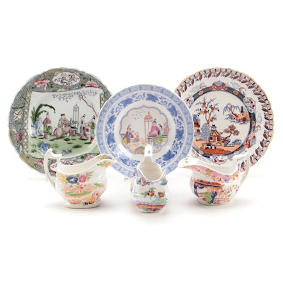 Masons Chinese Scroll with Other English Ironstone Chinoiserie Tableware