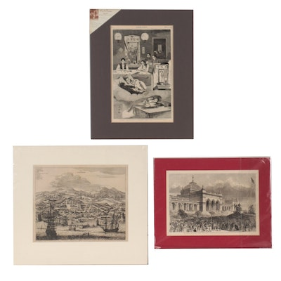 Wood Engravings and Engraving After John Ogilby and Winslow Homer