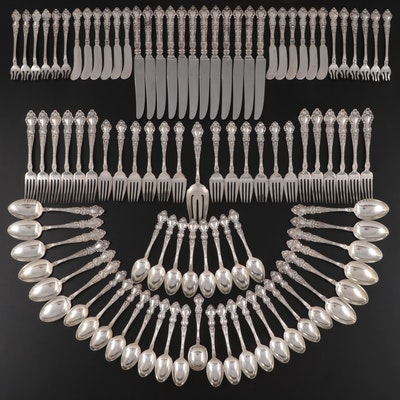 """Watson """"Meadow Rose"""" Sterling Silver Flatware, Early to Mid-20th Century"""