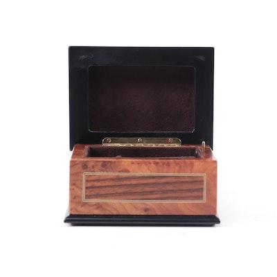 Böhme Music Inlaid Wood Musical Jewelry Box
