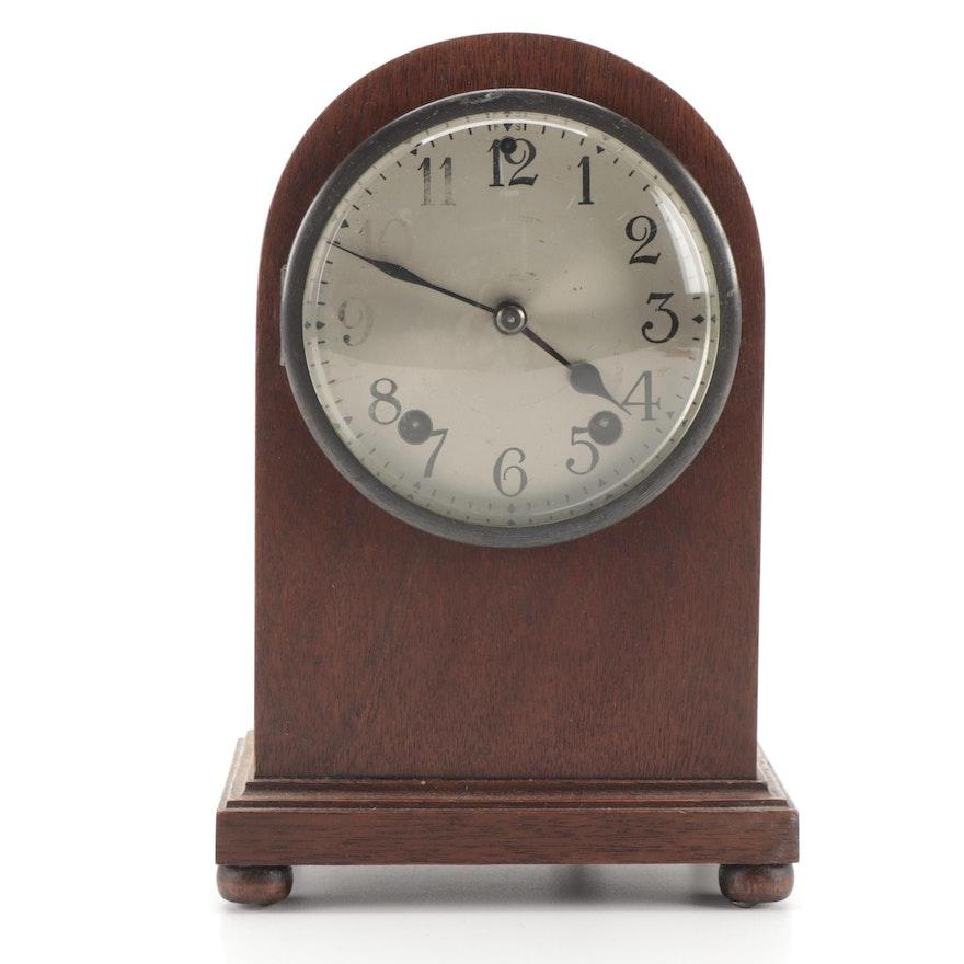 Art Deco Mahogany Beehive Mantle Clock, Early to Mid 20th Century