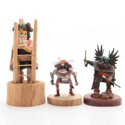 "Native American Kachina Dolls Including H. Palingyumpteus ""Chaveyo"""