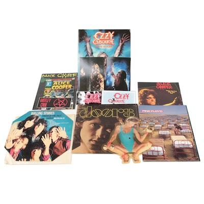 Doors, Rolling Stones Records, Pink Floyd Tour Program, Other Rock Memorabilia