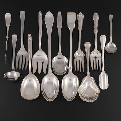 Gorham, Dalia, International, Rogers, and Other Silver Plate Serving Utensils