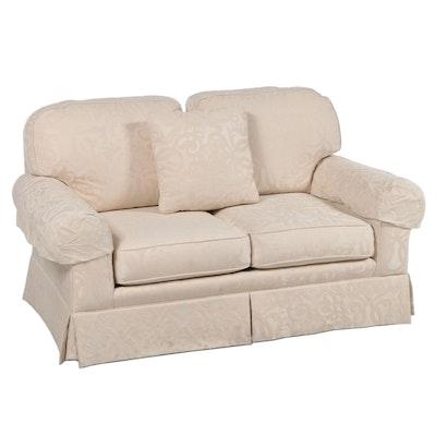 Sherrill Furniture Damask Upholstered Loveseat Sofa