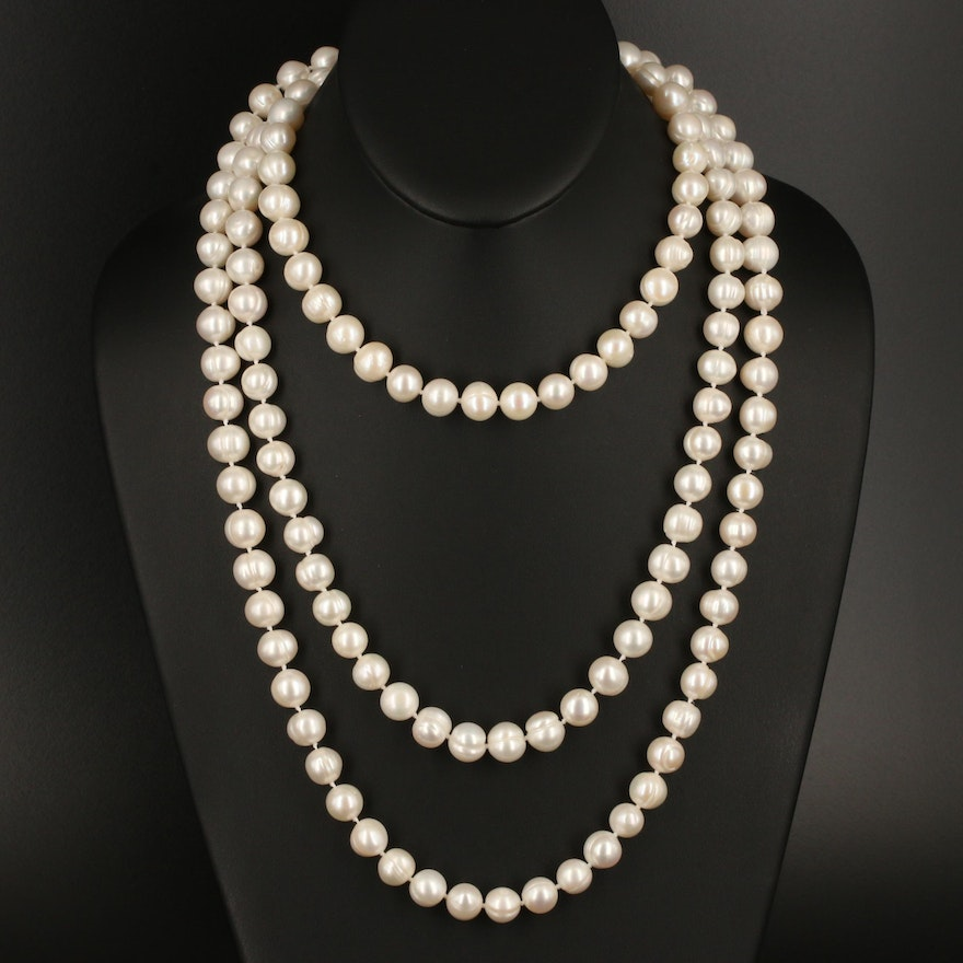 Endless 10.70 MM Pearl Necklace