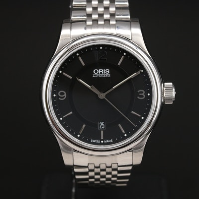 Oris Classic Date Stainless Steel Automatic Wristwatch