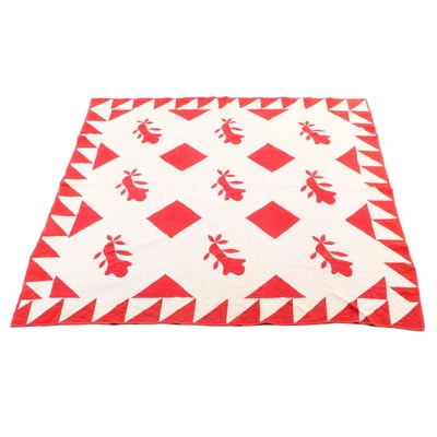 Hand-Pieced and Appliqué Quilt