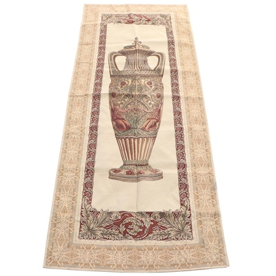 Machine Woven Baroque Style Tapestry of Neoclassical Urn