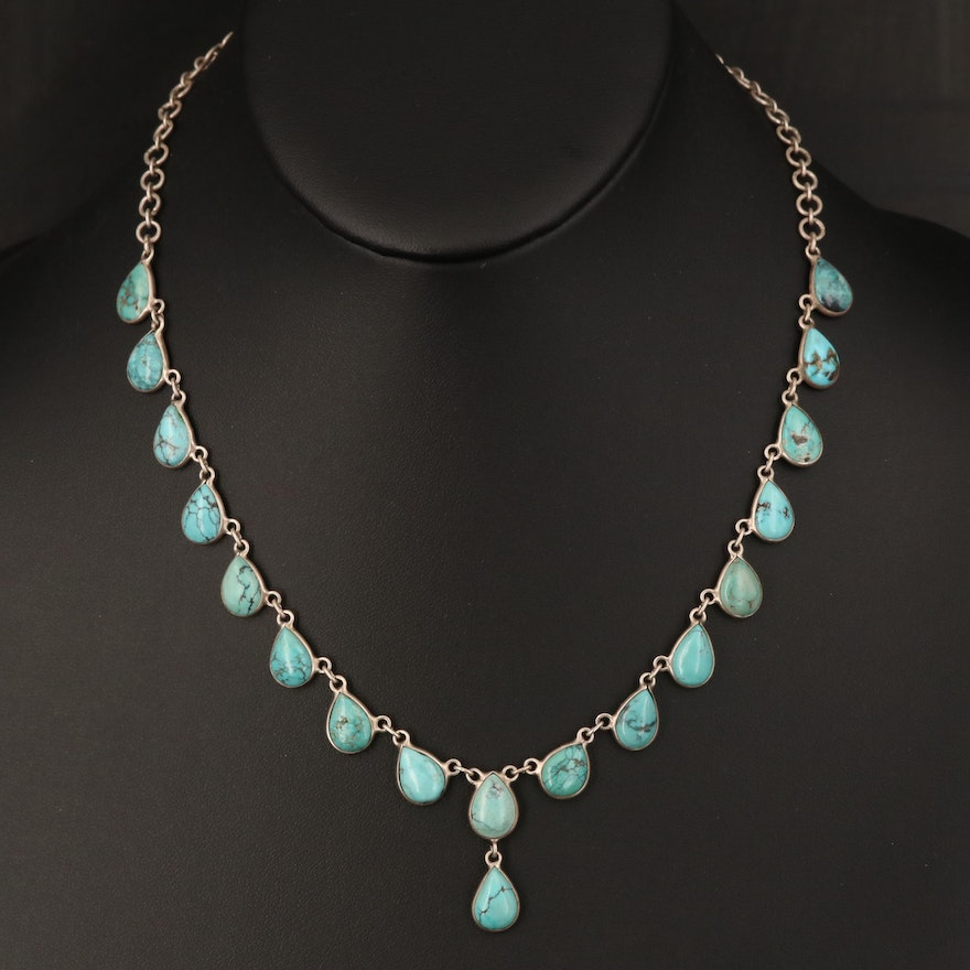 Sterling Turquoise Necklace