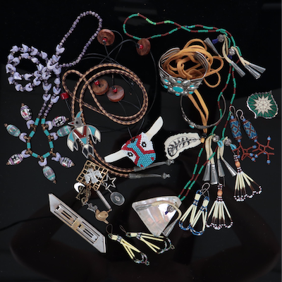 Beaded Jewelry Including Susan L. Richardson and Herbert Bayer