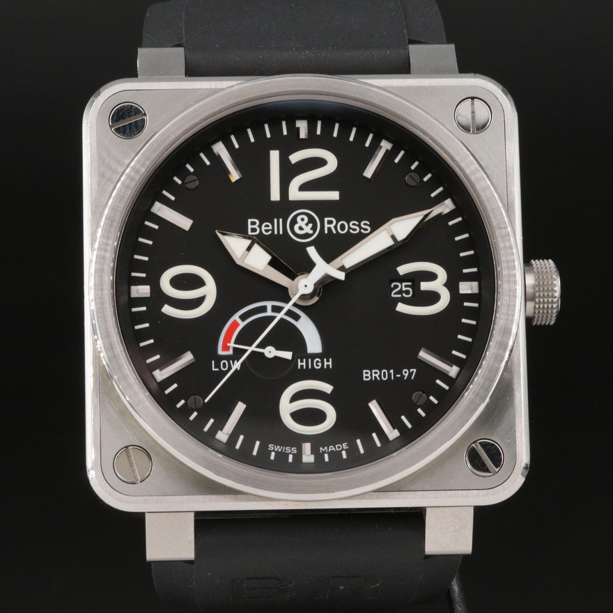 Bell & Ross BR01-97 Reserve de Marche Stainless Steel Automatic Wristwatch