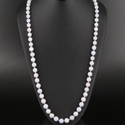 Graduated Jadeite Bead Necklace