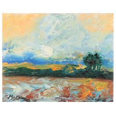 "Claire McElveen Oil Painting ""Evening Light"""