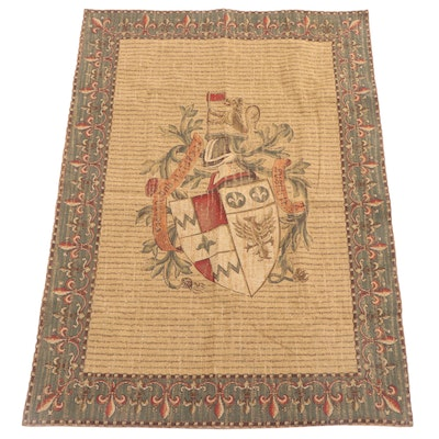 Machine Made French Armorial Coat of Arms Tapestry
