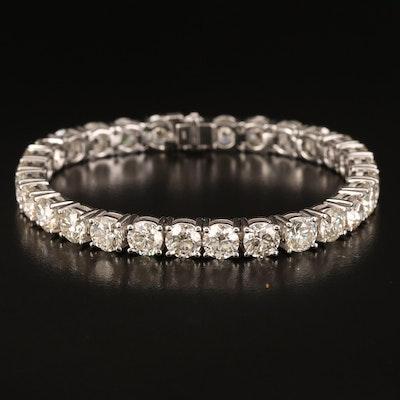 14K 26.07 CTW Diamond Tennis Bracelet with IGI Report