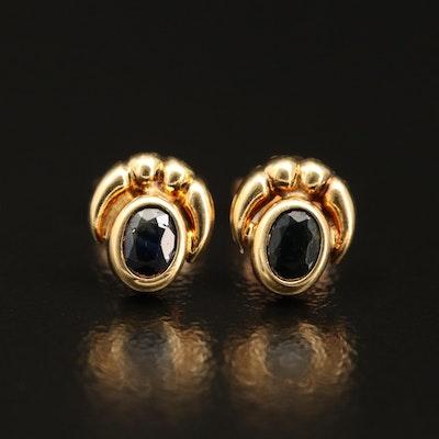 18K Sapphire Earrings