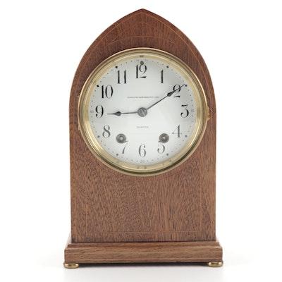 Bigelow Kennard & Co. Sting Inlaid Beehive Mantel Clock, Antique