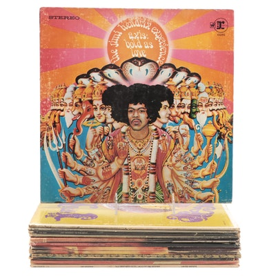 """Jimi Hendrix """"Axis: Bold As Love"""", """"Are You Experienced"""", Other Vinyl LP Records"""