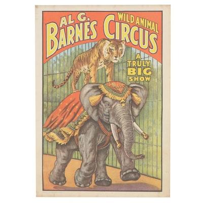 Al G. Barnes Offset Lithograph Poster