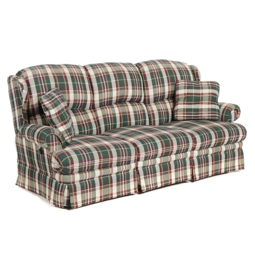 Berkline Three-Seat Double Manual Reclining Sofa