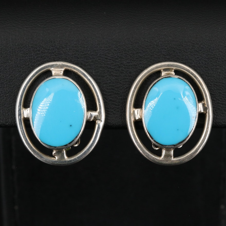 Mexican Sterling Turquoise Earrings