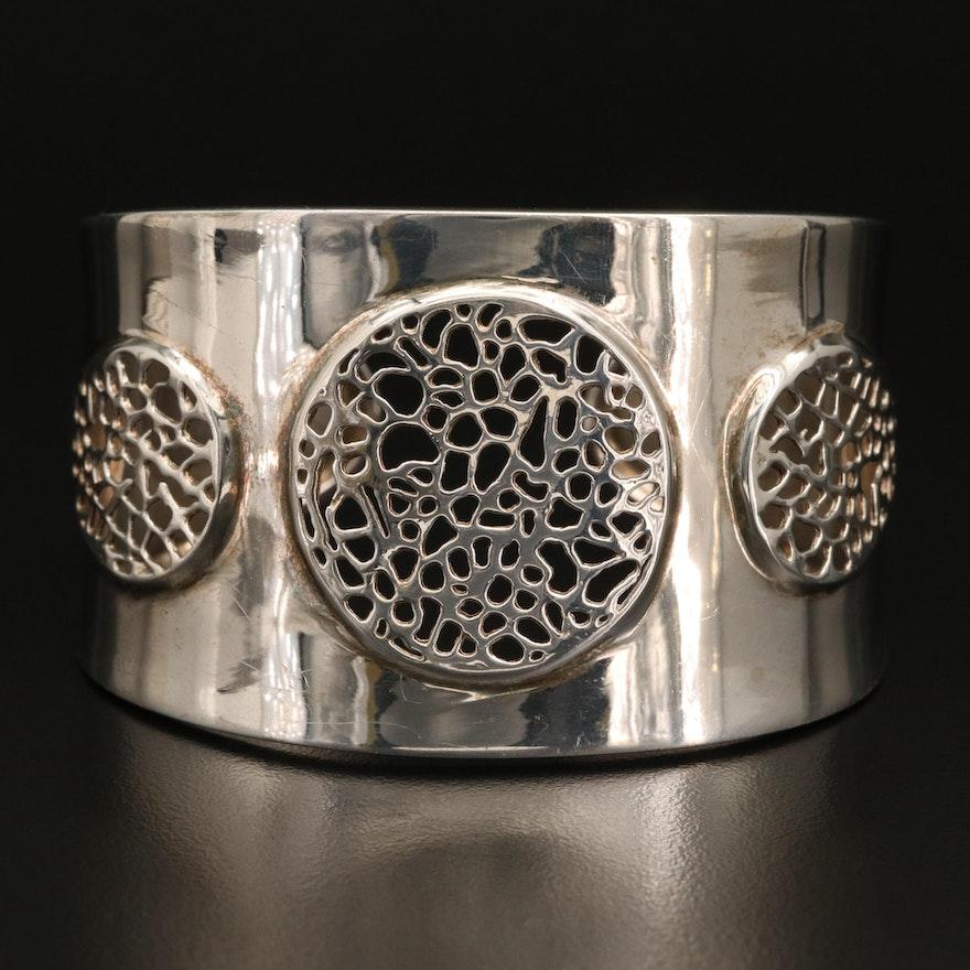 Sterling Silver Openwork Cuff