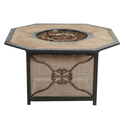 Octagonal Patio Propane Fire Table