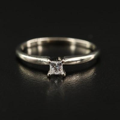 10K 0.20 CT Diamond Solitaire Ring