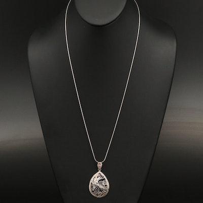 Sterling Filigree Pendant Necklace