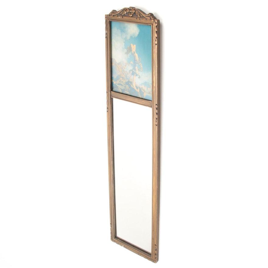 Art Nouveau Style Maxfield Parrish Illustration Wall Mirror
