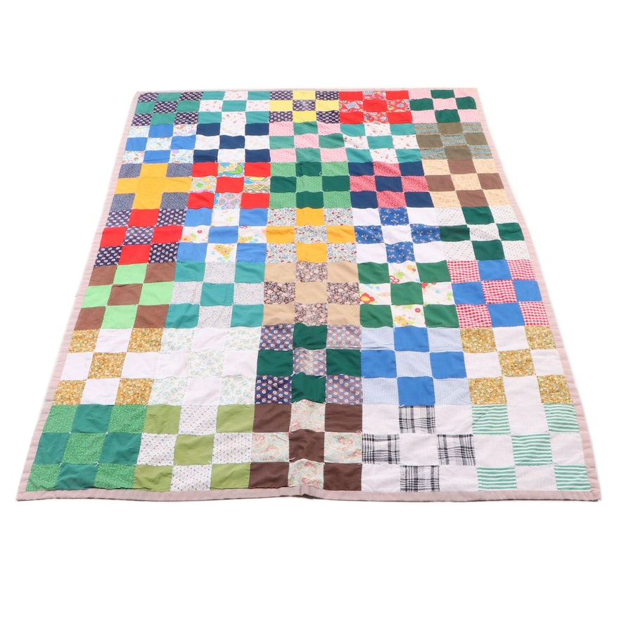 Hand Tied and Hand Pieced Patchwork Quilts