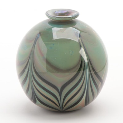 Peter VanderLaan Art Glass Bud Vase, 1974