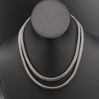"""John Hardy Sterling Double Strand """"Classic"""" Chain Necklace"""