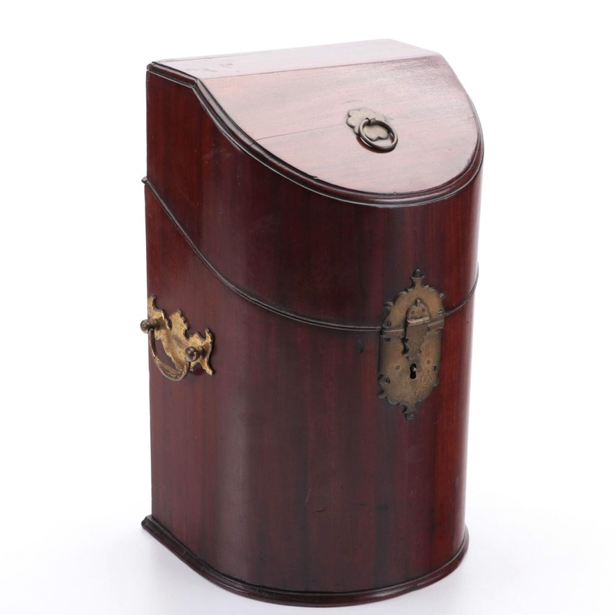Georgian Mahogany Decanter Case, Late 18th to Early 19th Century