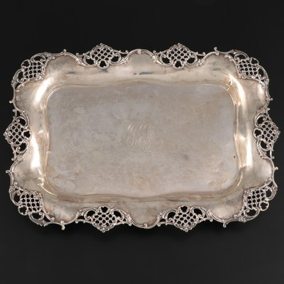Gorham Sterling Silver Openwork Salver, Late 19th Century