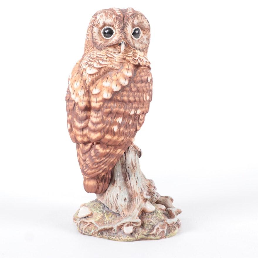 "Royal Doulton ""Tawny Owl"" Ceramic Owl Figurine, 1990s"