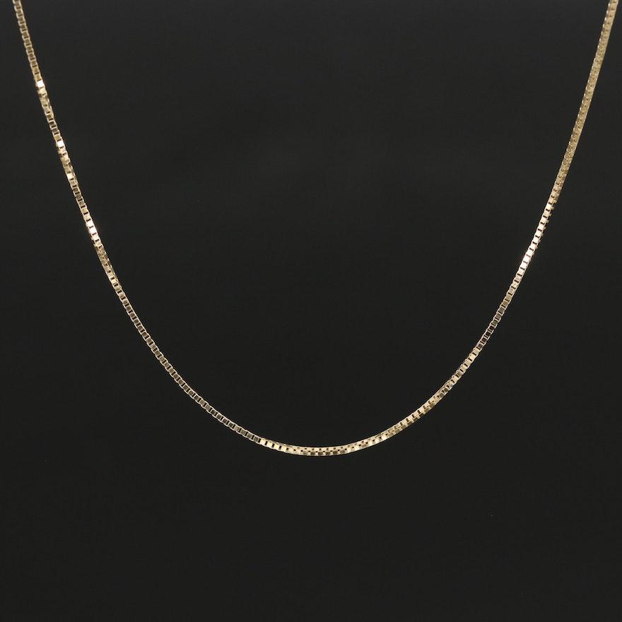 14K Box Chain Necklace