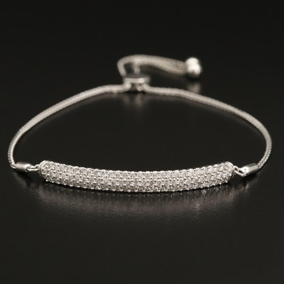 14K 1.01 CTW Diamond Bolo Bar Bracelet