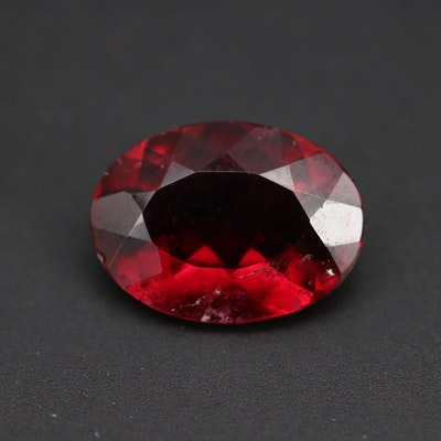 Loose 2.19 CT Oval Faceted Rubellite