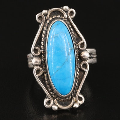 Southwestern Style Sterling Silver Magnesite Ring