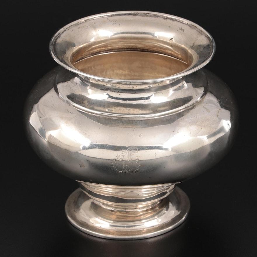 Dutch Gebruder Niekerk 835 Silver Vase,  Early 20th Century