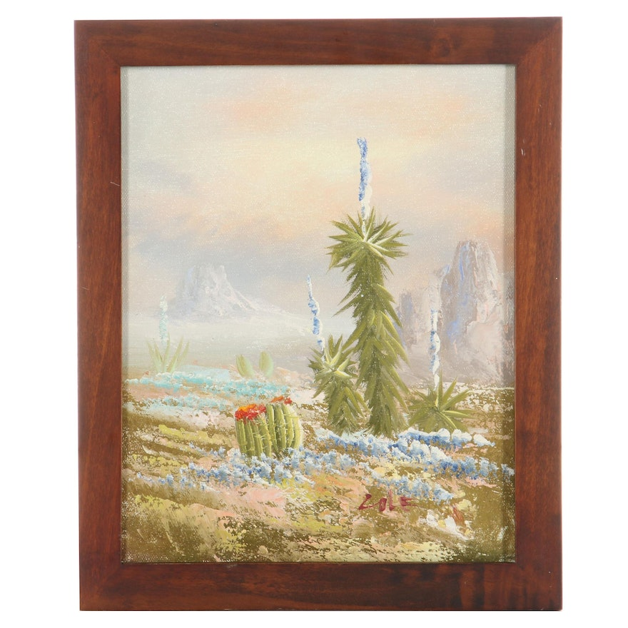 Southwestern Landscape Oil Painting, Late 20th Century
