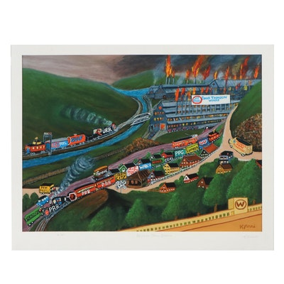 "Kathleen Ferri Giclée ""Brinton Train Station"""