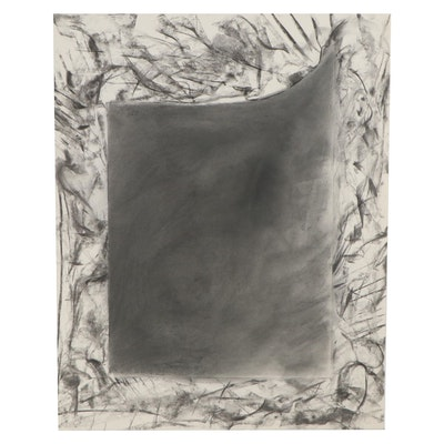 Nicholas Barbieri Abstract Graphite Drawing, Late 20th Century