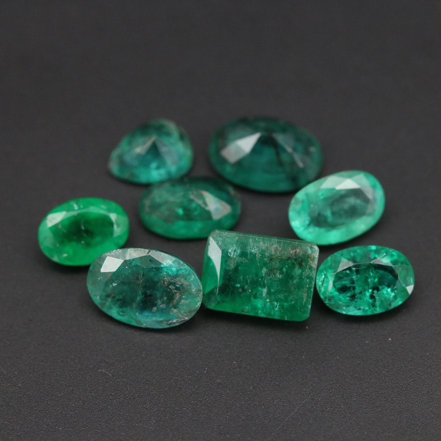 Loose 4.42 CTW Faceted Emeralds